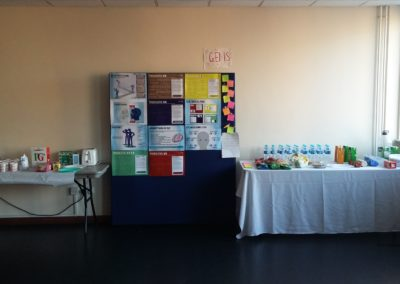 Refreshments and visual aid board